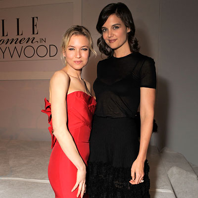 Best of 2009: Top 10 Celebrity Party Playlists - Renee Zellweger and Katie Holmes - Elle Women in Hollywood Awards