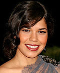 America Ferrera, Lancome Fever lip gloss in On Fire, Lancome Le Lipstique Lip Coloring Stick in Raisinberry, lipsticks