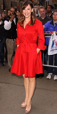 Jennifer Garner wearing Diane von Furstenberg