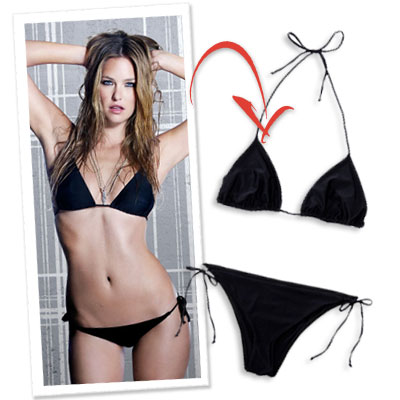 Bar Rafaeli, Hurley Bikini, What&#039;s Right now, Little Black Bikini