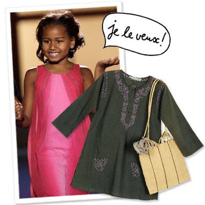 Sasha Obama - Michelle Obama - Bonpoint - Shopping News