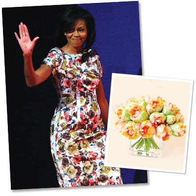Michelle Obama's Flower Power - What's Right Now