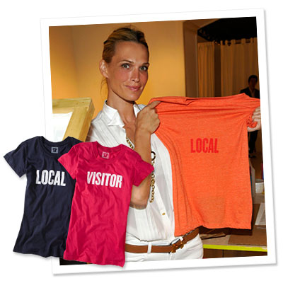 Molly Sims - Tommy Hilfiger - tee shirts