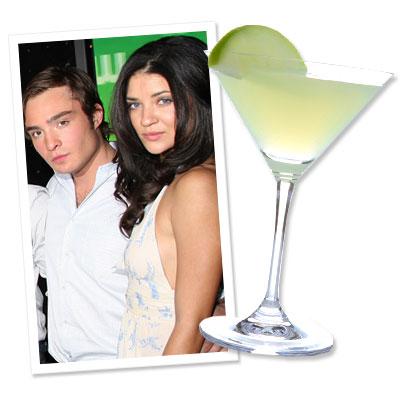 Ed Westwick - Jessica Szohr - Cucumber Martini - Lucky Strike Lanes & Lounge