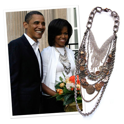 Michelle Obama - FENTON - statement necklace