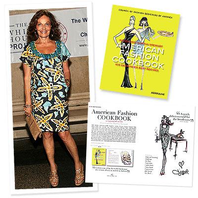 American Fashion Cookbook - Diane Von Furstenberg - Calvin Klein - Carolina Herrera - Martha Stewart