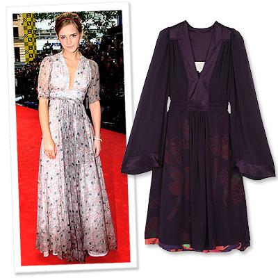 Ossie Clark Emma Watson Dress