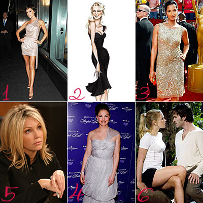 Victoria Beckham - American Idol - Katherine Heigl - Ugly Truth - Padma Lakshmi - Top Chef - Heather Locklear - Melrose Place - Ashley Judd - Harvard - Anna Paquin - Stephen Moyer - Engaged