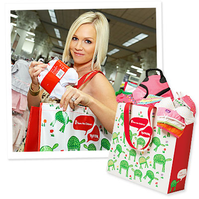 What's Right Now - Buy Jennie Garth's T.J. Maxx Tote and Help a Child in Need