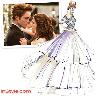 Designer Wedding Dress on Bella S Wedding Dress   Fashion Designers Sketch Bella S Wedding Dress