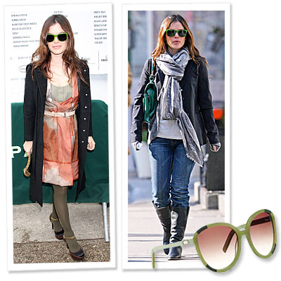 Rachel Bilson - Chloe - green sunglasses