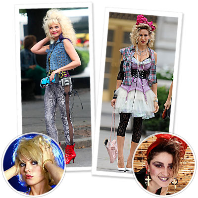 Eighties Fashion  Girls on More    80s Fashion Spotted On The Satc2 Set   Instyle Com What S