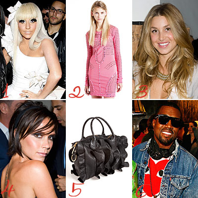 Lady Gaga - Jason Wu - Christopher Kane - Topshop - Whitney Port - Victoria Beckham - Lori Goldstein - Kanye West
