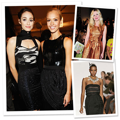 New York Fashion Week - Emmy Rossum - Jessica Alba - Kirsten Dunst - Marc by Marc Jacobs - Rodarte - Narciso Rodriguez - Badgley Mischka