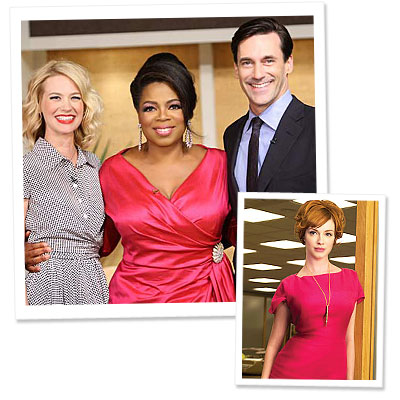 Oprah - Janie Bryant- Mad Men - Jon Hamm - January Jones - Christina Hendricks - What&#039;s Right Now - Style on the Set