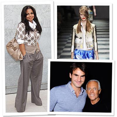 Janet Jackson - Roger Federer - Giorgio Armani - Prada - Milan Fashion Week