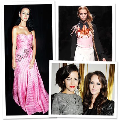 Leighton Meester - Camilla Belle - Katy Perry - Miu Miu - Paris Fashion Week