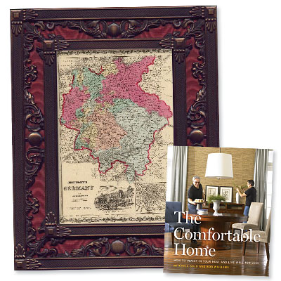 Style at Home: Vintage Maps Make Affordable Art