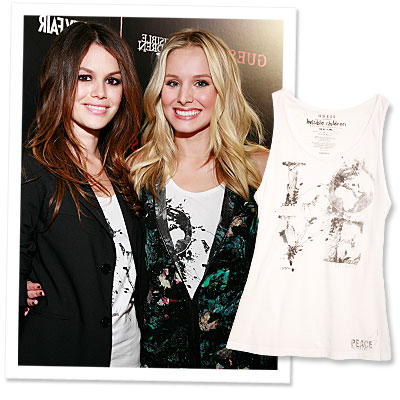 Rachel Bilson Fashion Style Guide on Rachel Bilson And Kristen Bell   S Versatile  And Charitable  Tee