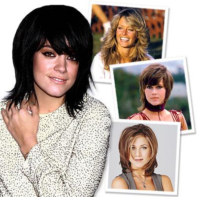 Lily Allen-Haircut-Farrah Fawcett-Jennifer Aniston-Jane Fonda