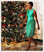 Michelle Obama - green tree