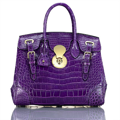 Ralph Lauren Crocodile Ricky Bag