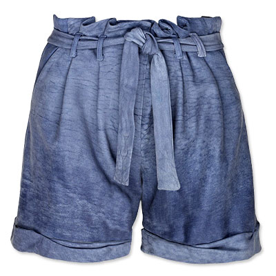 Thakoon Blue Leather Shorts