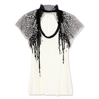 Valentino Sequin-Embellished Top - clothing - We're Obsessed - Fashion - Instyle.com :  fashion evening satin tee