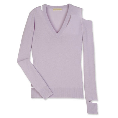 Michael Kors Cashmere Slashed Sweater