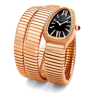 Bulgari Double Serpenti Pink Gold and Diamond Watch