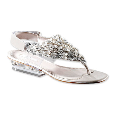 Prada Thong Sandals with Crystals