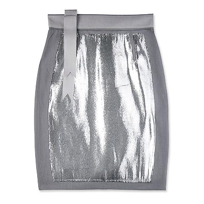 Richard Nicoll Silver Denim Skirt