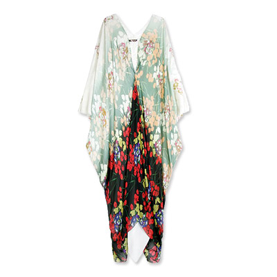 Roberto Cavalli Silk Floral Caftan