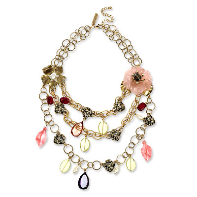 Oscar de la Renta Multi Jewel Knot Necklace