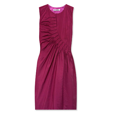Jil Sander Gathered Taffeta Dress