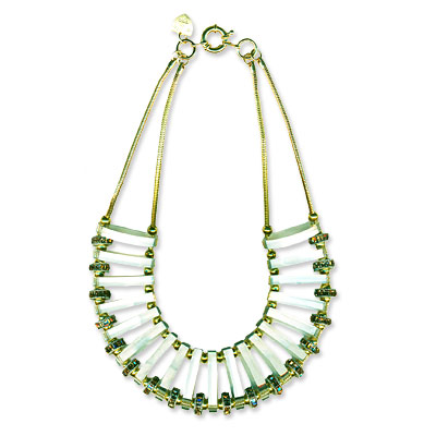 Giles & Brother by Philip Crangi Ice Domed Bib Necklace