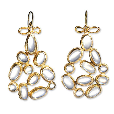 Judy Geib 18K Excessive Moonstone Earrings