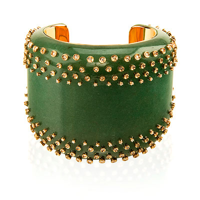Carla Amorim Cuba Libre Green Quartz and Diamond Bracelet