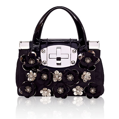 Miu Miu Natt and Patent Leather Handbag