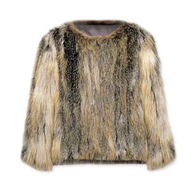 CH Carolina Herrera Fox Fur Jacket