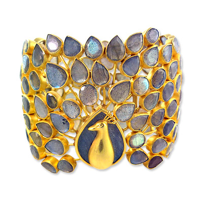 Pippa Small 22K Gold and Labradorite Peacock Bracelet