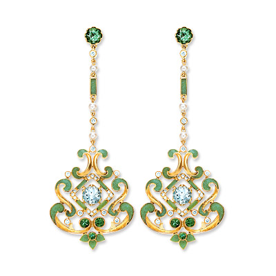 Tiffany & Co. Archival Gemstone and Enamel Earrings