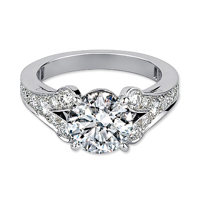 Cartier Ballerine Solitaire, Paved, Platinum, Brilliant-Cut Diamond Ring