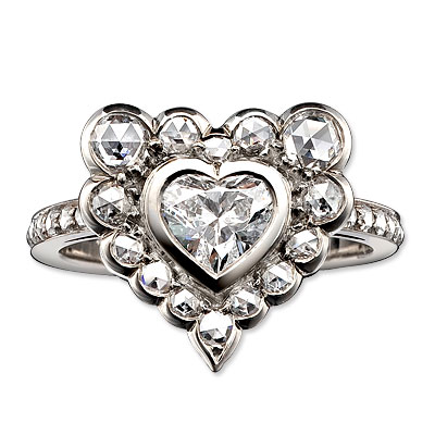 Solange Azagury Patridge White Gold and Diamond I Do Ring