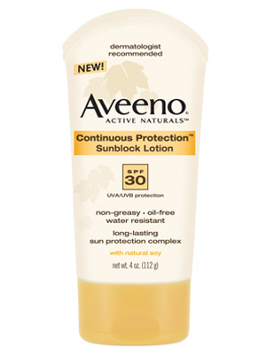 Best 2007 Facial Sunscreen - Aveeno Continuous Protection Sunblock
