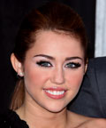 Miley Cyrus-The Lost Song premiere-lashes-makeup