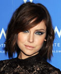 Jessica Stroup-eye shadow-Fall 2010 New York Fashion Week.
