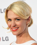 January Jones-blond-LG mobile phones event-hair