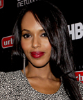 Kerry Washington-red lipstick-Urban World Film Festival