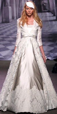 Monique Lhuillier - Wedding Gowns Inspired by Ivanka Trump - In Style Weddings :  wedding gowns inspired by ivanka trump monique lhuillier gown monique lhuillier